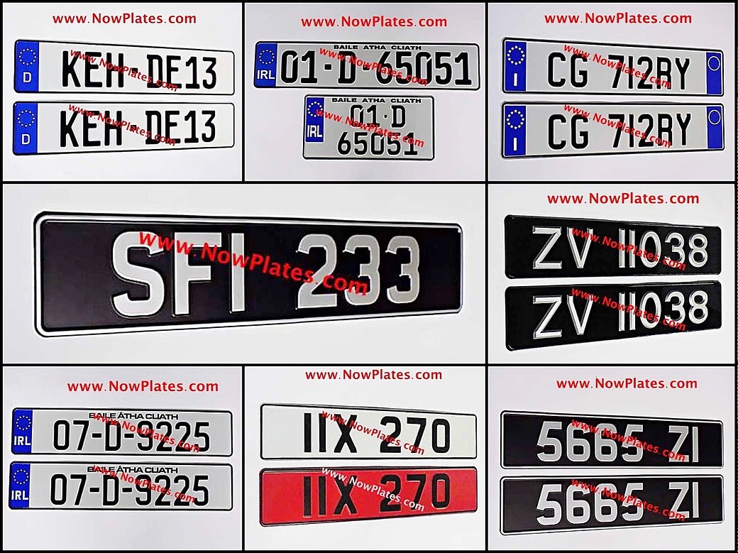 Irelands No.1 Irish NCT German Classic Vintage number plates supplier.