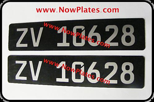 Pair of German Acrylic Plates
