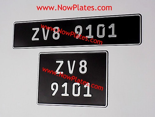 German Pressed Plates with Small No's with a Size and Colour Choice (F5)