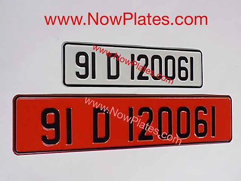 Retro Pressed Plates with size Choice H56