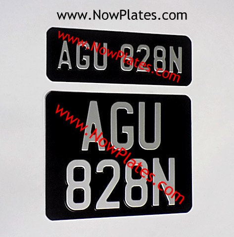 Vintage Black Pressed Plates Small Front + Square N667