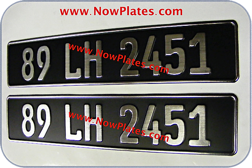 Black and Brushed Chrome German Pressed Plates