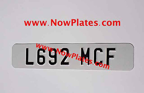 IRL or Plain Small Front Plate with a Flag, Size and Colour Choice (AD9)