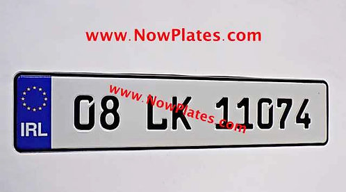 1 Only IRL German pressed Plates with Small FE Font