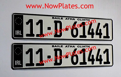 Pair of IRL Black Flag German Pressed Plates