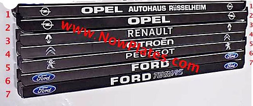 Custom Black Number Plate Frame (s)  F06