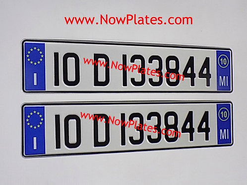 Pair of Italian pressed White Plates with options ( ITMO2)70