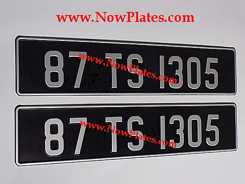 Vintage Black and Silver Pressed Plates ( 70mm )