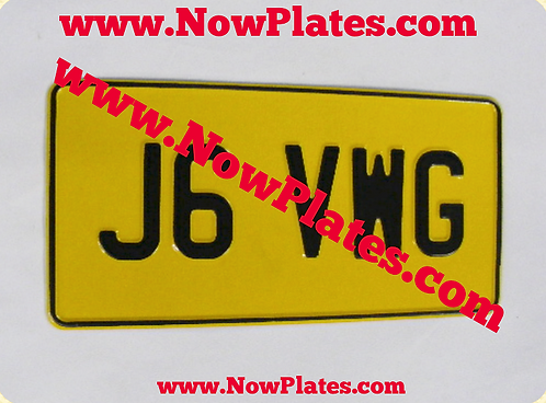 "1 Only Pressed Plate 1 row 12"" x 6""ins Large No's with a Colour Choic"