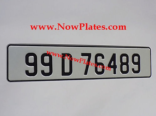 1 Only Retro Pressed Plates ( 70mm ) with a colour choice
