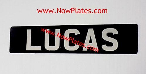 Your Name Pressed Plate Oblong x 1