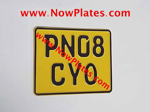 German Pressed Motorcycle Plate with a Colour and Size Choice