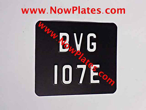 Pressed Motorcycle Plate Small No's with a colour choice190x150