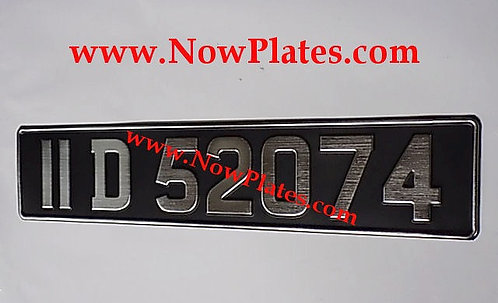 1 Only Vintage Brushed Chrome Pressed Plates