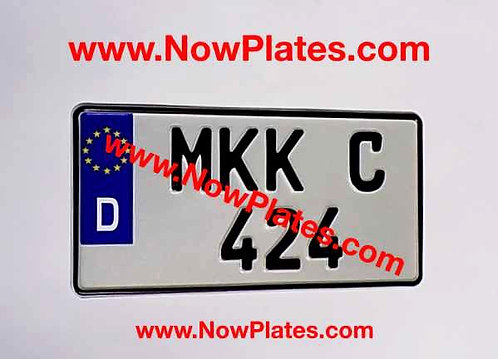 1 Only D Flag German pressed Plate Square 300x150mm