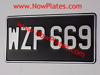 Vintage Number Plates are available from our web store www.nowplates.com