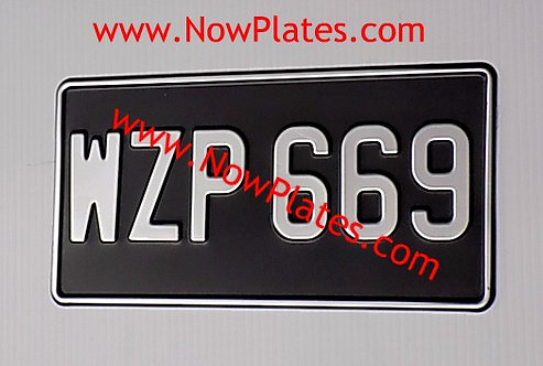 "1 Only Pressed Plate 1 row 12"" x 6""ins with a Digit Size and Colour Choice (R1)"