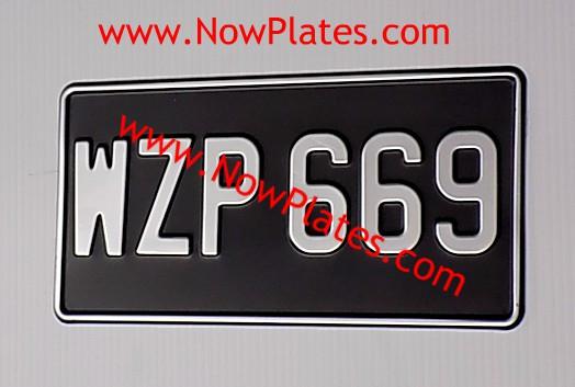vintage pressed number plates