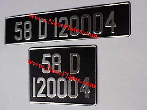 Vintage Brushed Chrome Pressed Plates 70mm