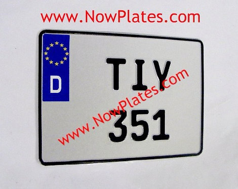 1 of D Flag German FE Font Square Pressed Plate