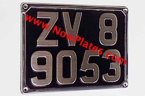 "Vintage Square Number Plate with a Colour Choice 11"" x 8""ins"