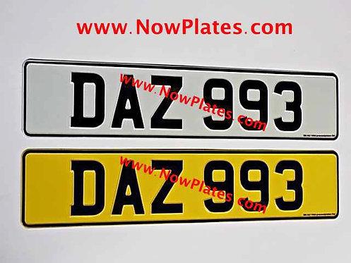 Pair of English Pressed Plates