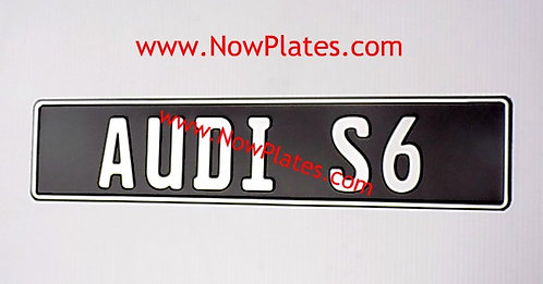 Your Name Pressed Plate Oblong x 1 (S4)