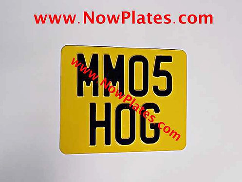 Pressed Motorcycle Plate  with a Colour Choice with Medium No's 9 x 7ins