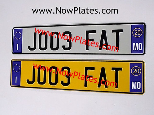 Pair of Italian pressed White Plates with options ( IT209)70