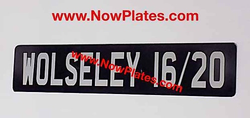 Acrylic Plate Oblong x 1 with your wording (S4)