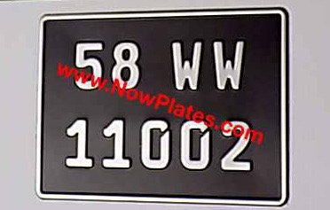 1 Only German Pressed Plate with Small No's with a Size and Colour Choice (F5)