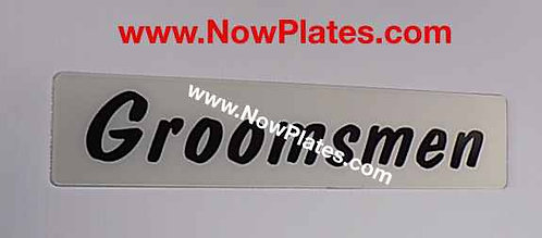 Acrylic Wedding Plate Oblong x 1 (W3