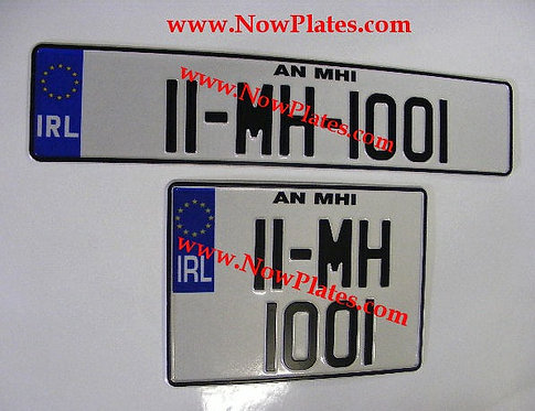 IRL NCT Pressed Plates 1 x Oblong and 1 Square