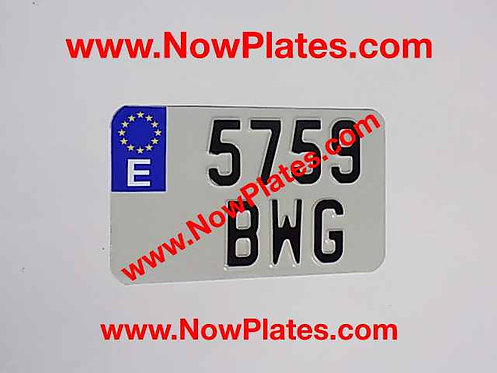 Flag Choice Pressed Motorcycle Plate with size options