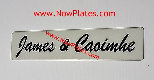 Acrylic Wedding Name Plate Oblong x 1 (W56