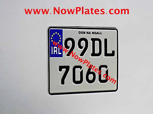 IRL Pressed German FE Font Motorcycle Plate 200 x 180mm