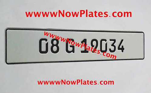 1 Only Plain FE Font Pressed Plate with a Colour Choice