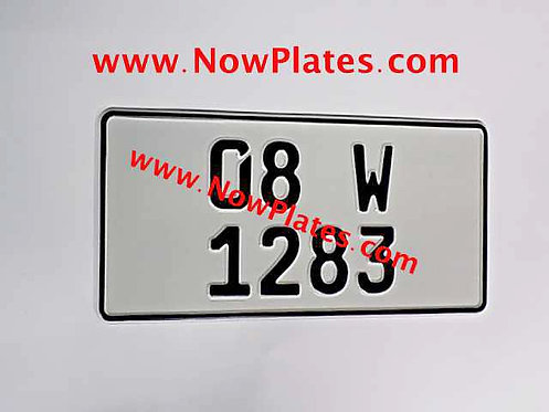 1 Only Plain German pressed Plate Square with a Colour Choice 300x150mm