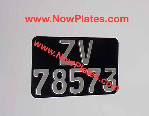Pressed Motorcycle Plate  German FE Font with a Colour Choice