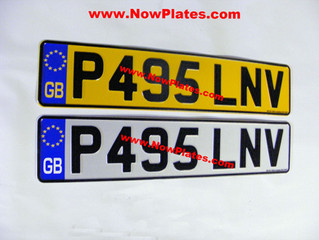 How can I change my UK  Registered Car Number Plates to Irish NCT Number Plates for road use in Irel