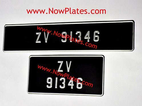 Pressed Plates with Small No's with a Size and Colour Choice (F9)