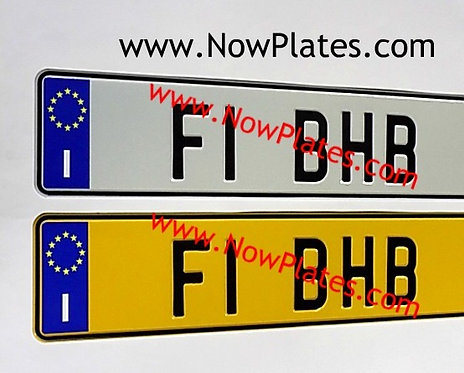 1 ONLY Italian I pressed White or Yellow Plate  ( IT1I)