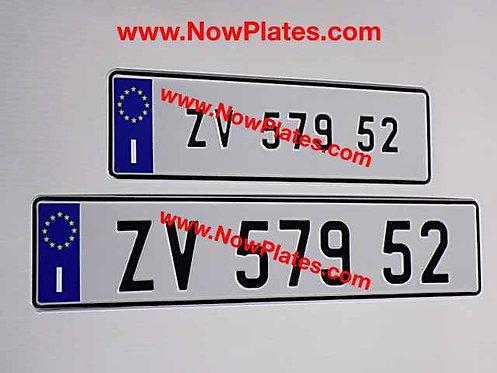 I Flag Italian pressed Plates Small Front + Oblong( ITMOB38)