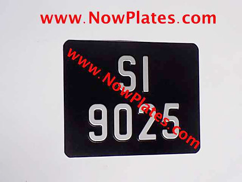 Pressed Motorcycle Plate for Honda 50 Colour Choice with Medium No's 220x170m