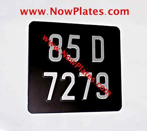 Pressed Motorcycle Plate  with a Colour Choice with Medium No's 190x150mm