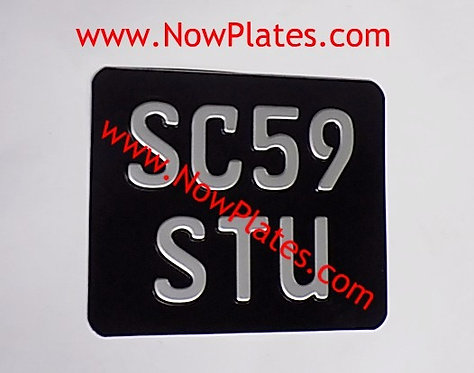 German FE Pressed Motorcycle Plate with a Size and Colour Choice Medium No's