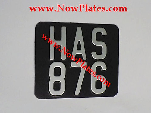 Pressed Motorcycle Plate  with a Colour Choice with Medium No's 6 x 5ins