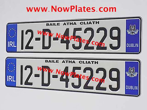 Pair of Football Logo Oblong Pressed Plates with your Team Choice