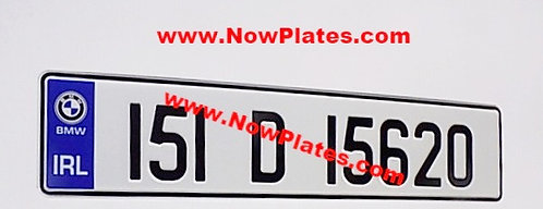 1 Only Pressed Number Plate with Logo's Choice (70m)