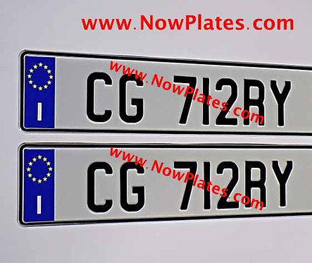 Pair of Flag Choice Pressed Oblong Plates ( 70mm )